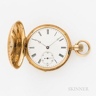 Patek Philippe & Co. 18kt Gold and Enameled Hunter-case Watch