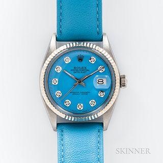 Rolex Diamond-set Datejust Reference 1601 Wristwatch