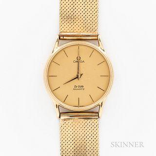Omega 14kt and 18kt Gold DeVille Wristwatch