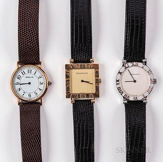 Three Tiffany & Co. Wristwatches