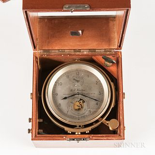 ,Thomas Mercer Eight-day Boxed Chronometer No. 621 and Certificate