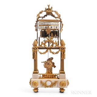Temple d'Amour Marble and Ormolu Annular Shelf Clock