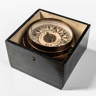E & G.W. Blunt Dry Card Compass
