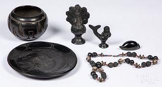 Southwestern Indian blackware pottery