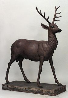 Outdoor Country Iron Deer Statuary