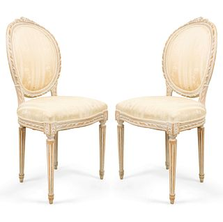 5 French Louis XVI Bleached Side Chairs (Priced Each)