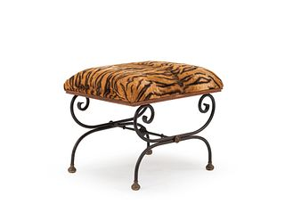 French Directoire Leopard Bench