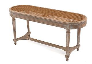 French Louis XVI Rectangular Bench