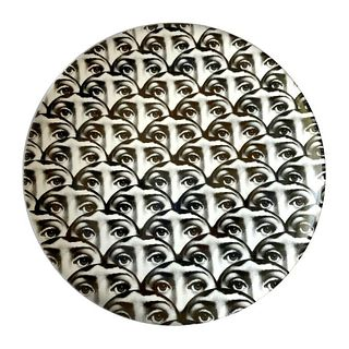 Piero Fornasetti Themes and Variations Milano Italy Porcelain Plate