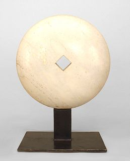 American Post-War Marble Disk Sculpture