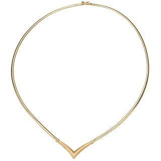 NECKLACE. 14K YELLOW GOLD