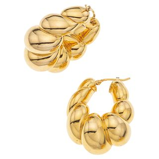 HOOP ROUND EARRINGS. 18K YELLOW GOLD