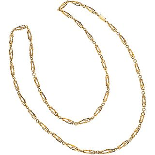 NECKLACE. 18K YELLOW GOLD