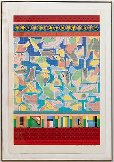 EDUARDO PAOLOZZI, UEV SCREENPRINT IN COLORS, 41/75