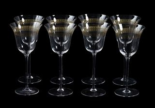 "SET, 8 VERSACE ""MARCO POLO"" WHITE WINE GLASSES"