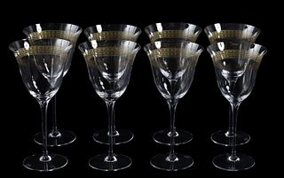 "SET, 8 VERSACE ""MARCO POLO"" RED WINE GLASSES"