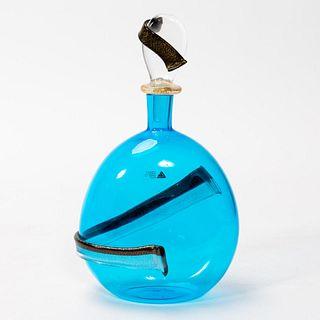 CENEDESE & ALBARELLI, MURANO ART GLASS BOTTLE