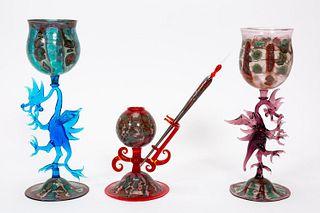 THREE, ANDREA BOSCOLO ART GLASS SCULPTURES