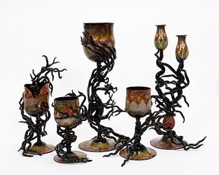 FIVE, ANDREA BOSCOLO MURANO ART GLASS SCULPTURES