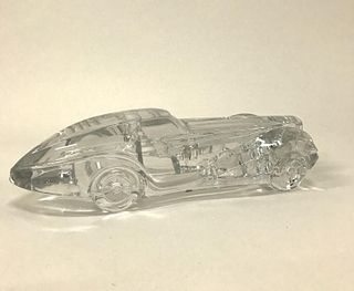 "DAUM ""COUPE RIVIERA"" CRYSTAL CAR MASCOT SCULPTURE"