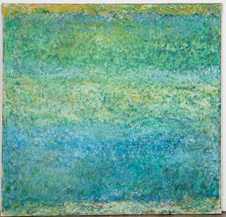 """FREDA MULCAHY, """"BLUEWORK"""", ARCYLIC ON CANVAS"""