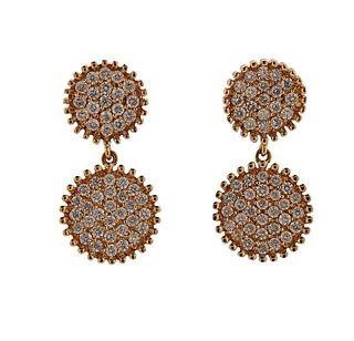 18K Gold Diamond Drop Earrings