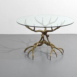 Rare Arthur Court Bronze Dining/Center Hall Table
