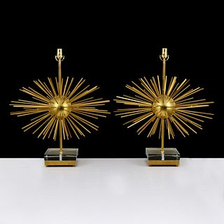 Pair of Lamps, Manner of Curtis Jere