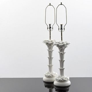 Pair of Palm Tree Lamps, Manner of Serge Roche