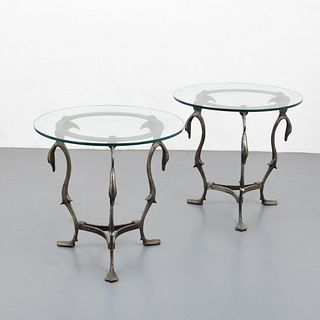 Pair of End Tables, Manner of Maison Jansen
