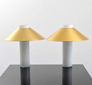 Pair of Large Paul Mayen Lamps