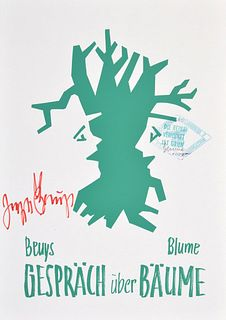Joseph Beuys & Bernhard Blume Lithograph, Signed