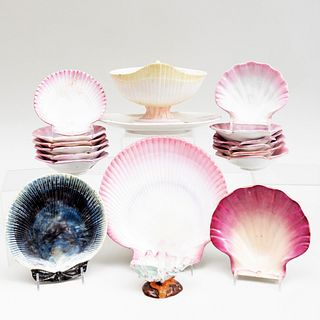 Group of Wedgwood Porcelain Shell Form Wares