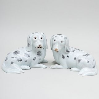 Pair of Mottahedeh Porcelain Nelson Rockefeller Collection Dogs
