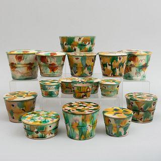 Group of Splatterware Pottery Articles