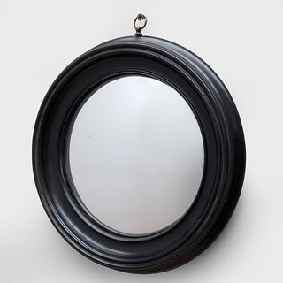 Group of Seven English Convex and Cut Glass Mirrors