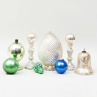 Group of Mercury Glass Table Objects