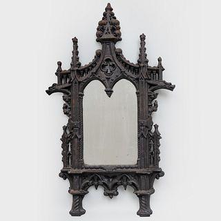 Small Cast Iron Gothic Mirror