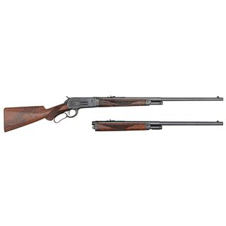 ** A Very Fine and Rare Deluxe Factory Engraved Winchester Model 1886 'Big 50' Lever Action Rifle