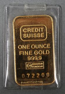 Credit Suisse GOLD 1 oz Bar