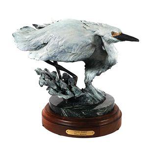 GLENN SWANSON, Bronze Egret, Cold Painted