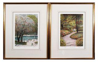 (2) HAROLD ALTMAN, Color Lithographs