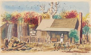 JAKE LEE, Watercolor, Rural Scene