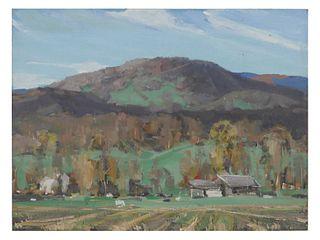 JAY CONNAWAY, Oil on Board Landscape