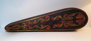 Folk Art Paint-Decorated Violin Case