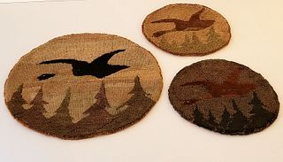 Three Grenfell Mission Woven Mats