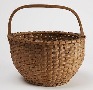 Fine Early American Splint Basket