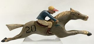 Carved Steeple Chase Horse Carnival Game