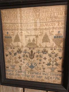 Needlework Sampler - Mary Catling 1746