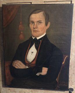 American Folk Art Portrait of a Gentleman